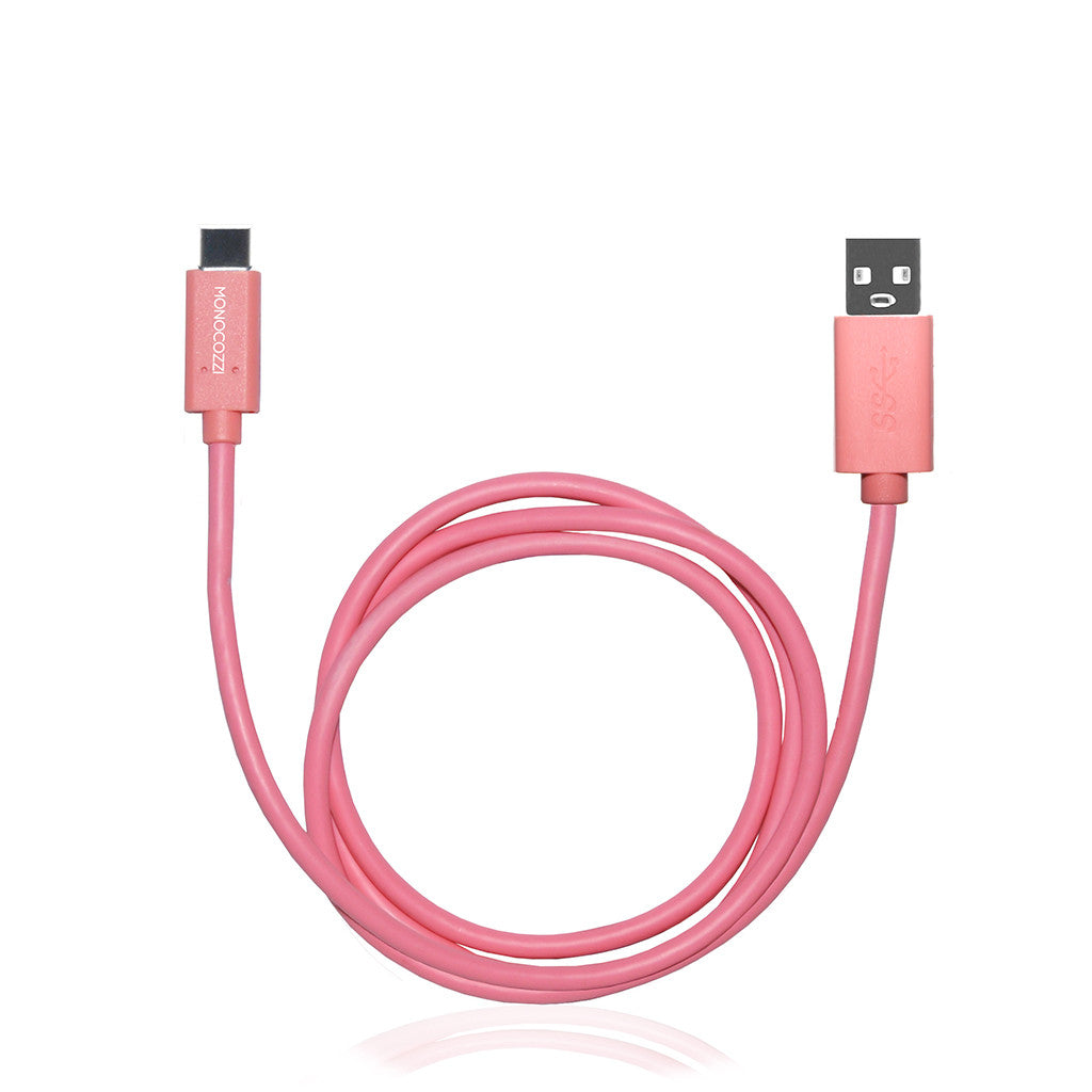 VITAL POWER | USB-C to USB 5Gbps Connect, Charge & Sync Cable (100cm) - Coral