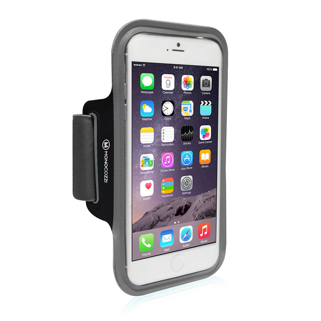 Motion | Sports Armband with Cable Management for iPhone 6 Plus (or equivalent size) - Black