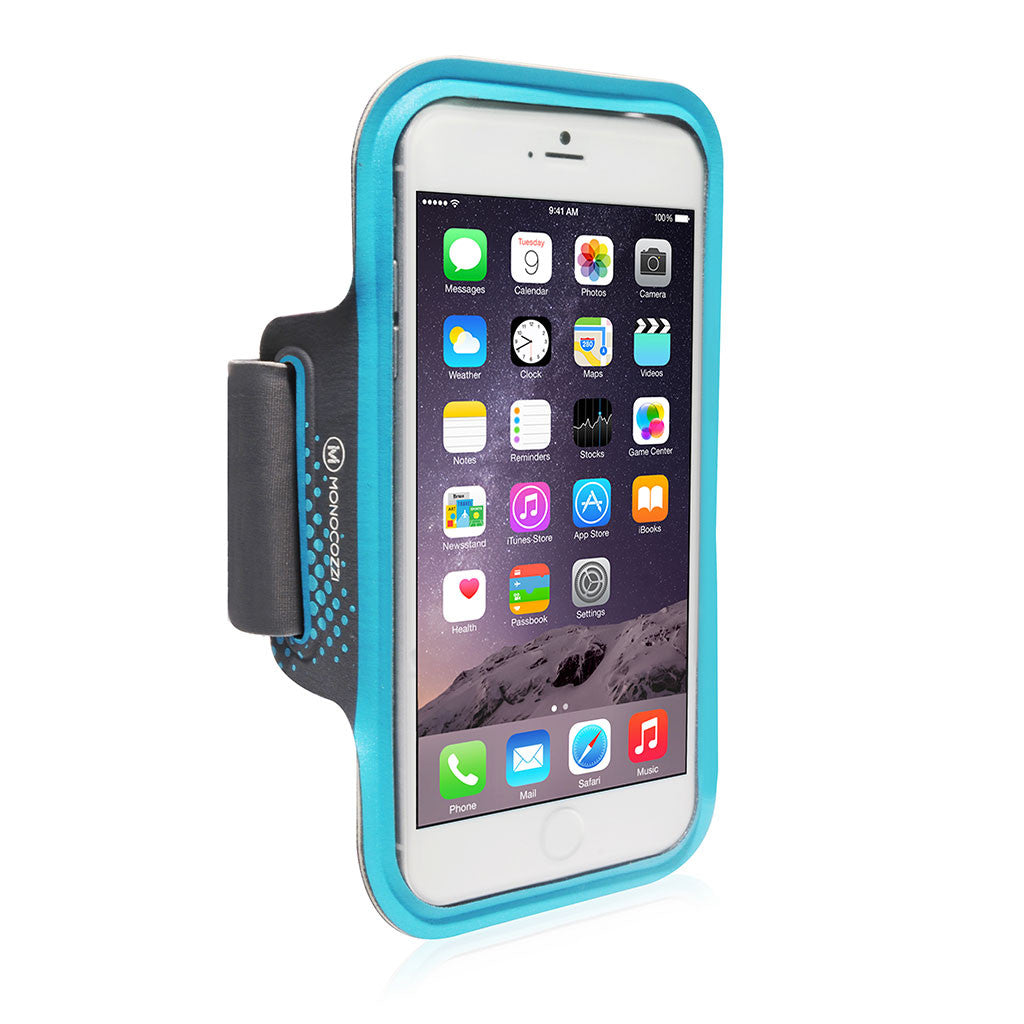 Motion | Sports Armband with Cable Management for iPhone 6 Plus (or equivalent size) - Blue