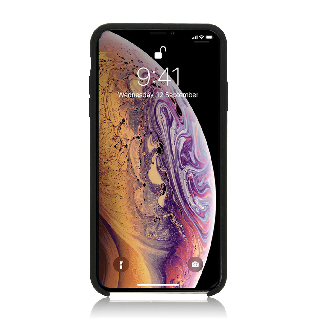 GRITTY | Liquid Silicon Stain Resistant Case for iPhone XS Max - Black