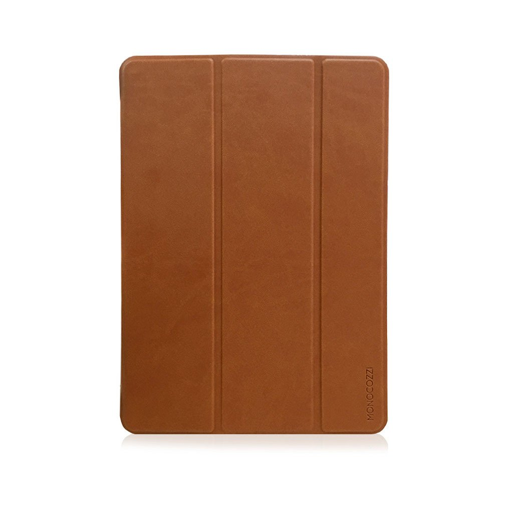 "LUCID FOLIO | Ultra Slim Hard Flip Case for iPad 9.7"" 2018 with Auto On-Off - Tan"