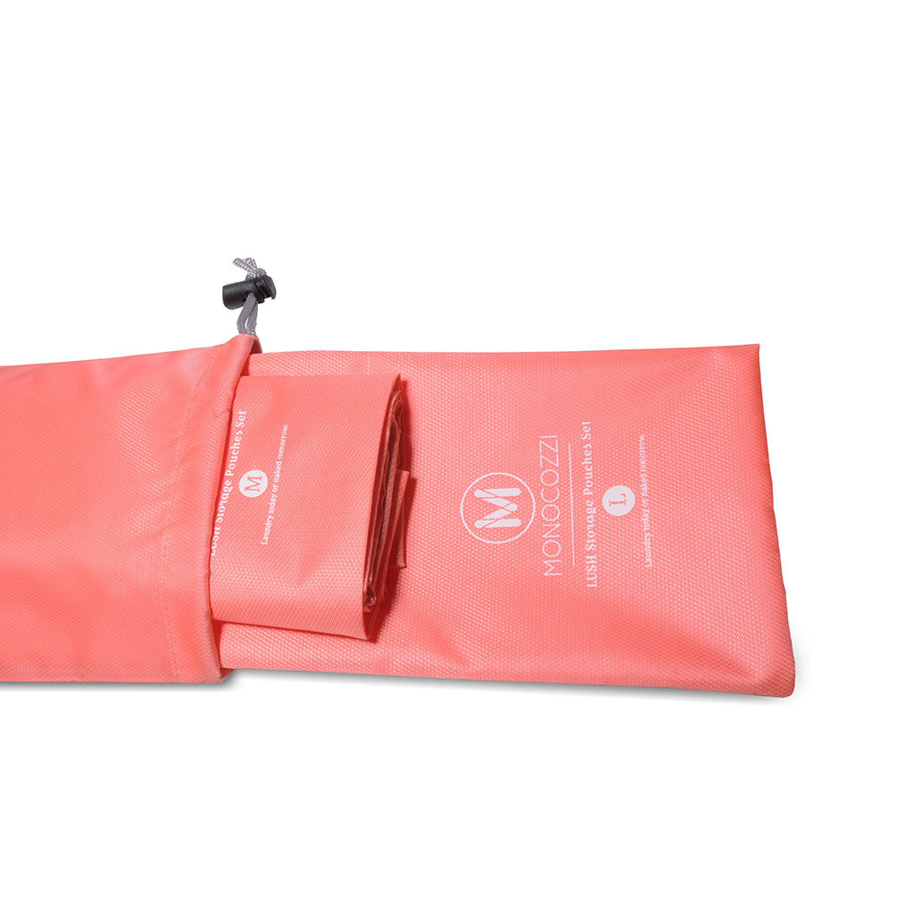 Lush | Storage Pouches Set - Coral