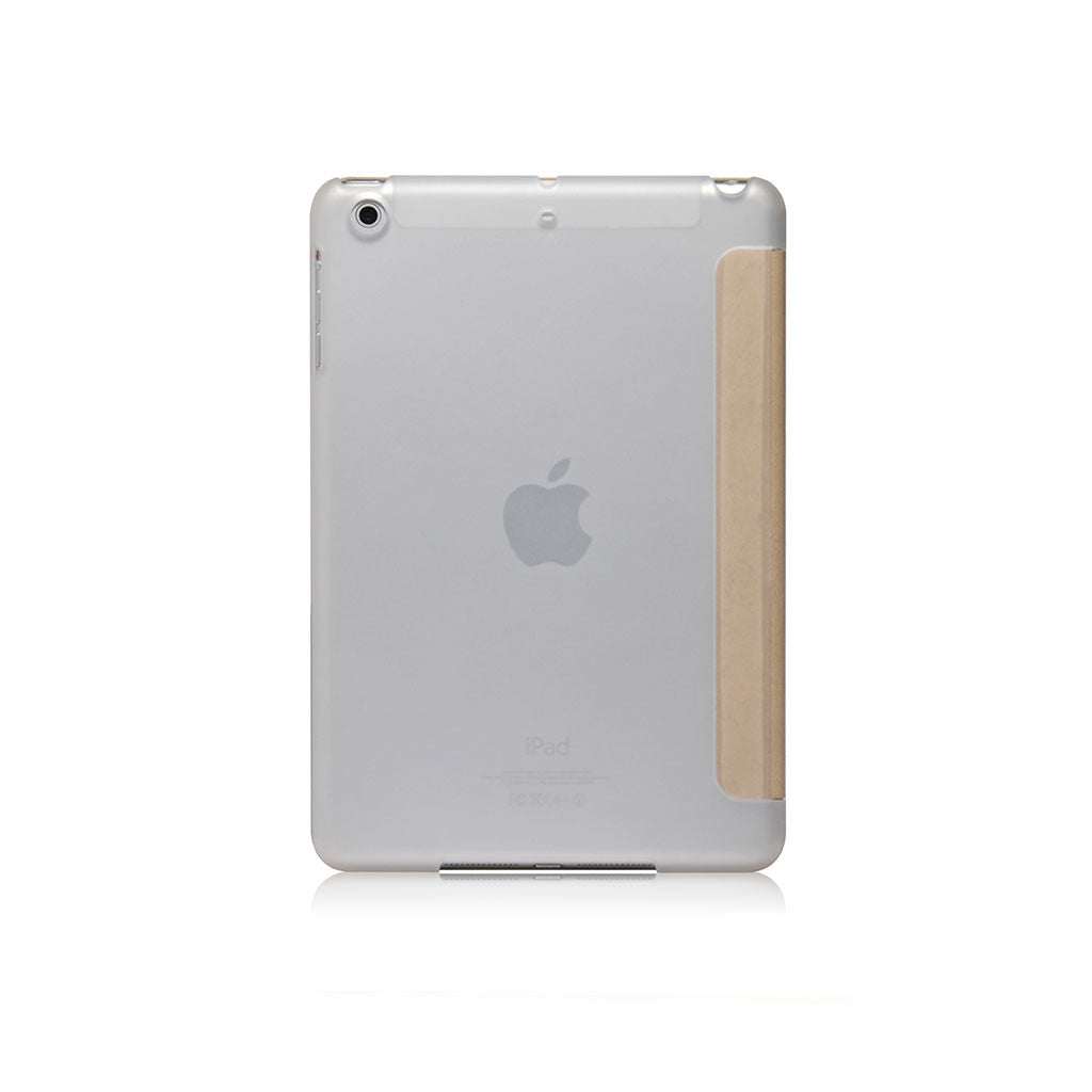 LUCID FOLIO | Ultra Slim Hard Flip Case for iPad Mini 3 with Auto On-Off Function - Cream