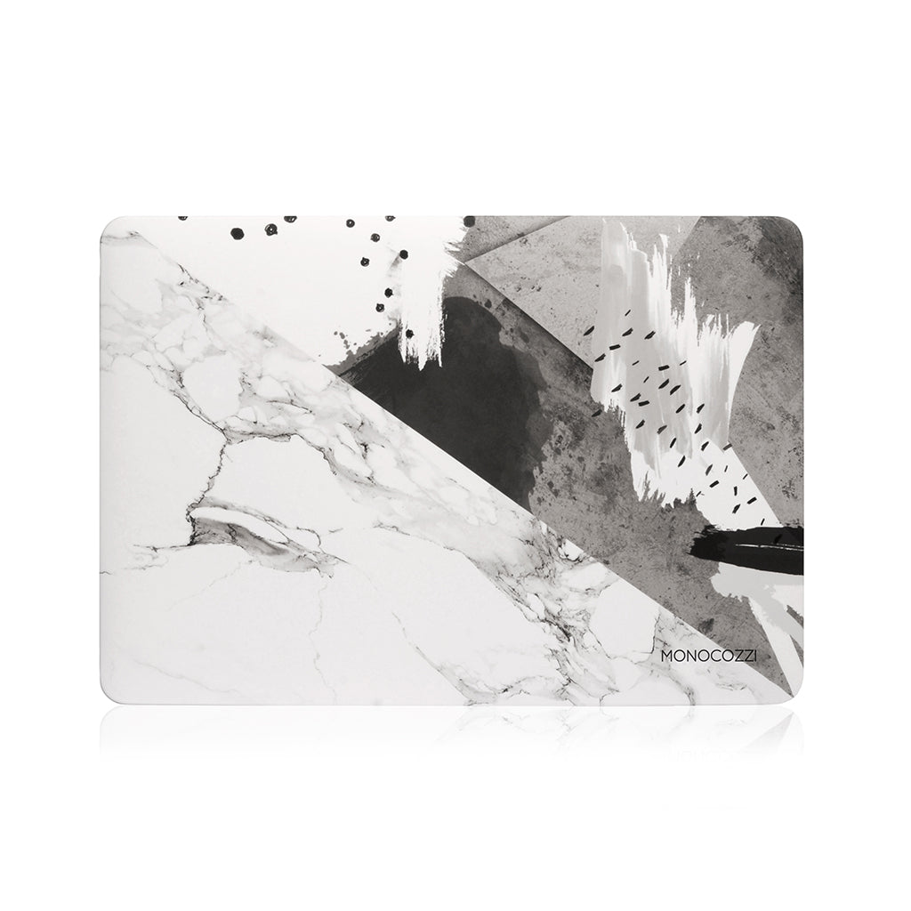 "Pattern Lab | Hard Case for Macbook Pro 13"" w/ USB-C - Marble 2 (Charcoal)"