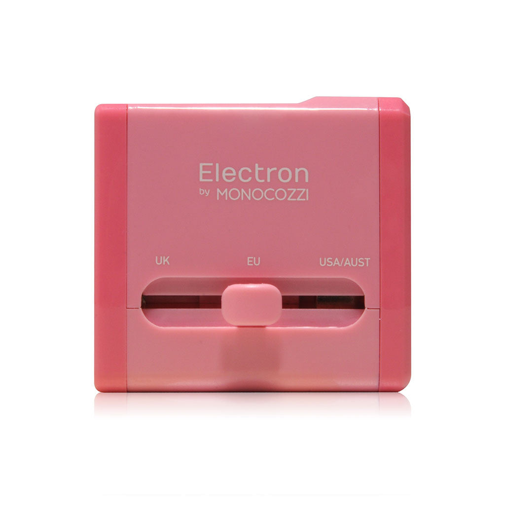 SMIGHTY | Global Adaptor with 2.1A Dual USB connectors (glossy) - Pink