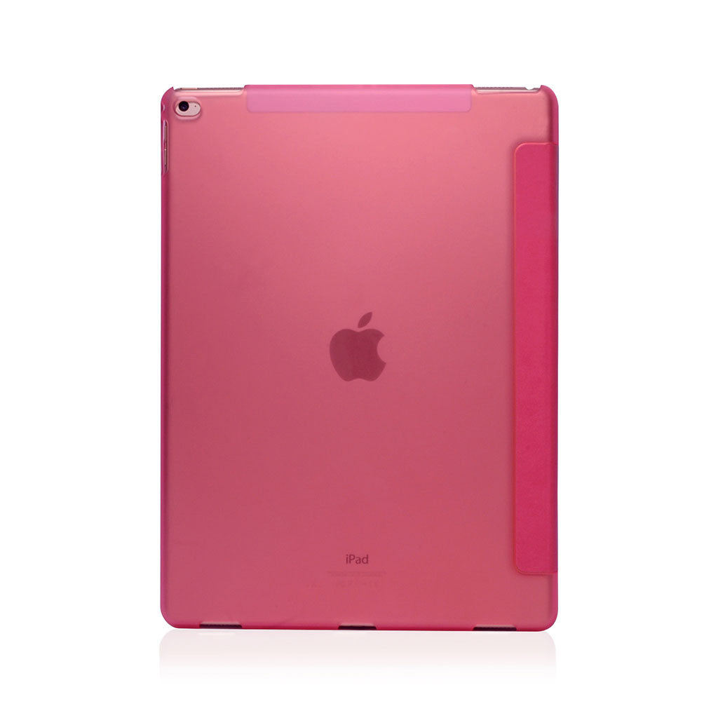 Lucid Folio | Ultra Slim Hard Flip Case for iPad Pro 12.9 w/ Auto On-Off - Pink