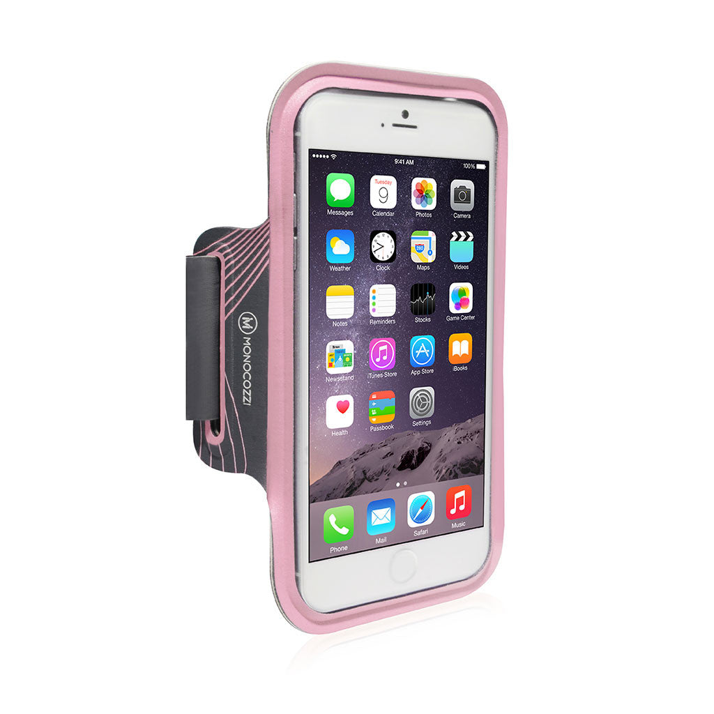 MOTION | Sports Armband with Cable Management for iPhone 6 (or equivalent size) - Pink