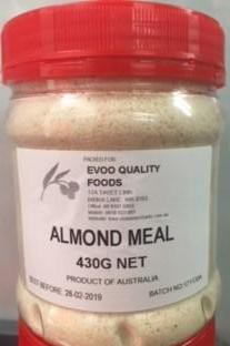 Almond Meal 430g Tub EVOO QF