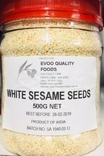 Sesame Seeds White 500g Tub