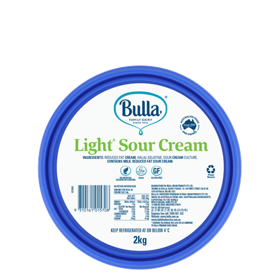 Sour Cream Light 2L tub Bulla