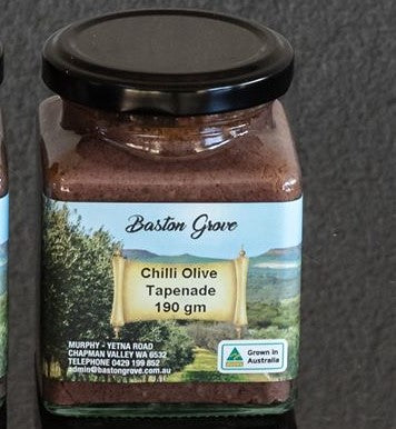 Chilli Olive Tapenade 190g Baston Grove