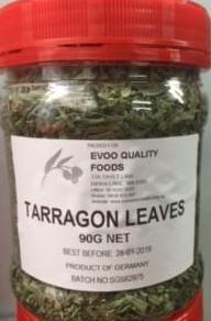 Tarragon Leaves Dried 90g Tub EVOO QF