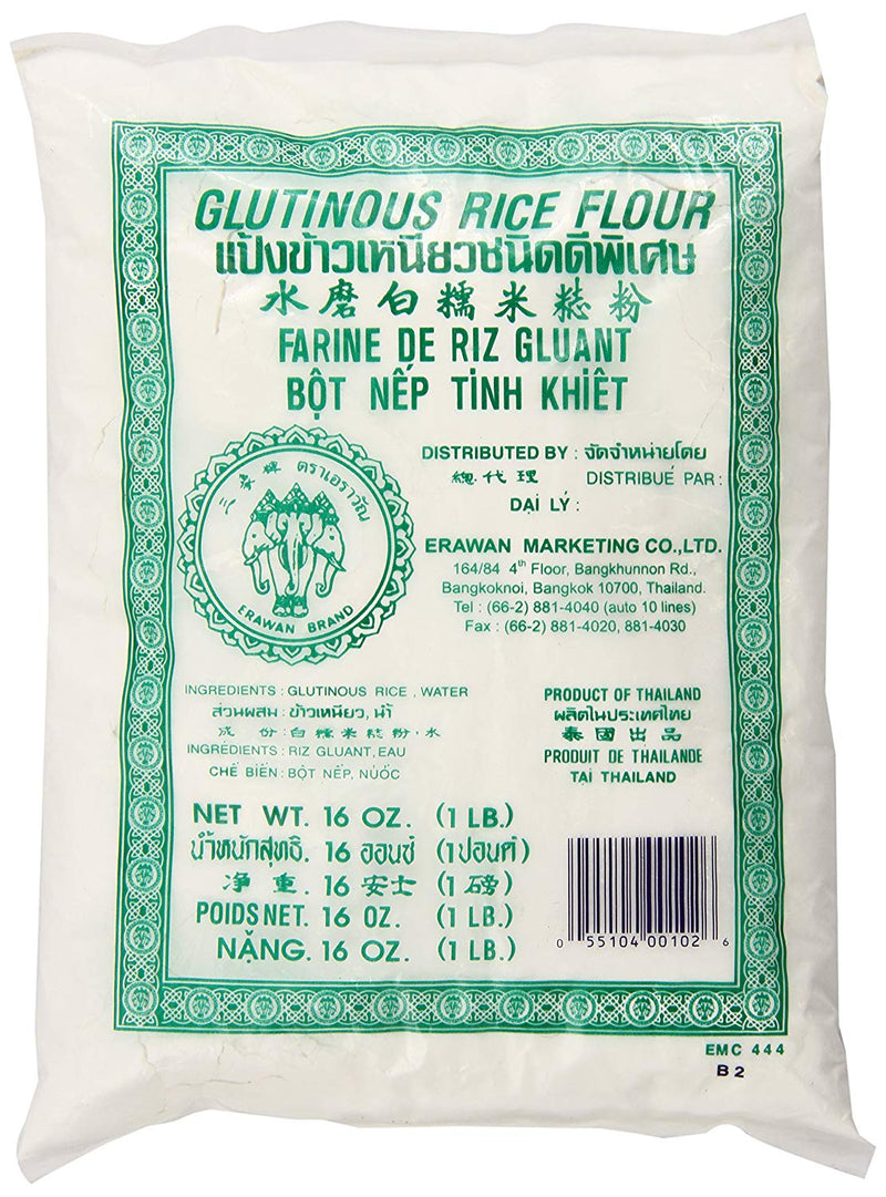Glutinous Rice Flour Fine 500g Packet  Erawan
