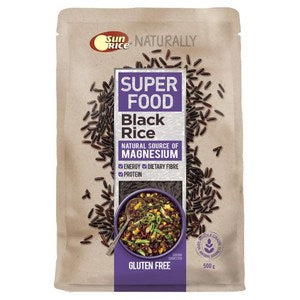 Black Rice Sunrice 500g Packet