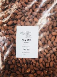 Almonds Roasted & Unsalted 5kg Bag EVOO QF