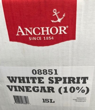 White Spirit Vinegar 10% (08851) 15lt BIB Anchor (Pre Order 3 days)