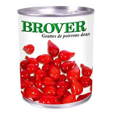 Sweet Mini Red Peppers (Tear Drop) 793g - Brover