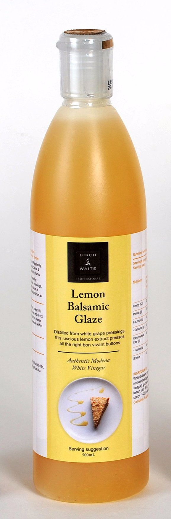 Lemon Balsamic Glaze 500ml Bottle Birch and Waite