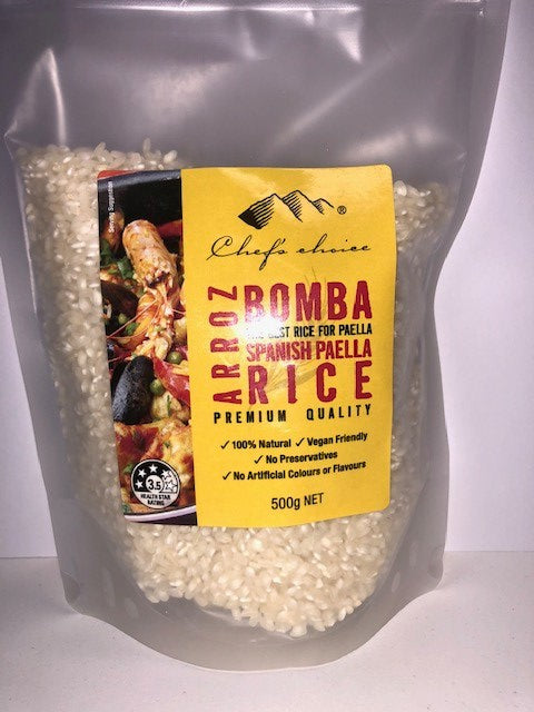Bomba Spanish Paella Rice Chef's Choice 500g