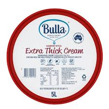 Extra Thick Cream 5lt Country Style Bulla **pre order 7 days** (Code 4045)