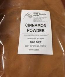 Cinnamon Ground 1kg Bag EVOO QF