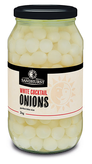 White Cocktail Onion 2kg Jar Sandhurst