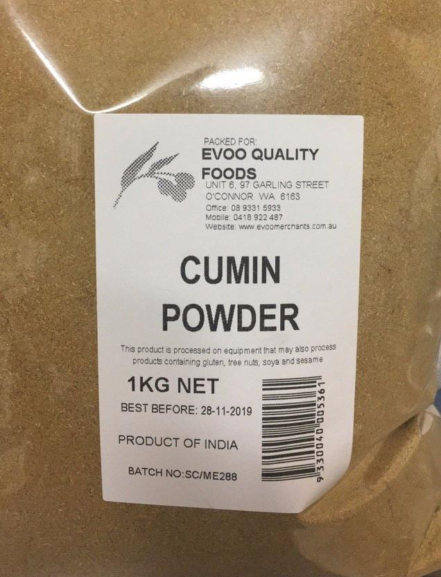Cumin Ground / Powder  1kg Bag EVOO
