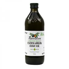 Extra Virgin Olive Oil Three Olives Unfiltered Certified Organic 1Ltr