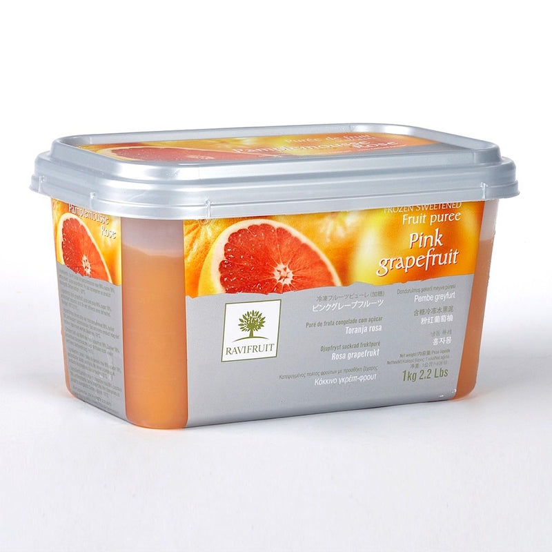 Pink Grapefruit Puree 1kg Tub Frozen - Ravi