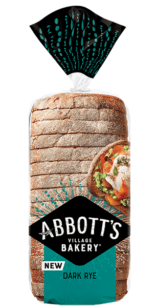 Sliced Bread Dark Rye 700g Abbott's Village Bakery - 3 days pre-order