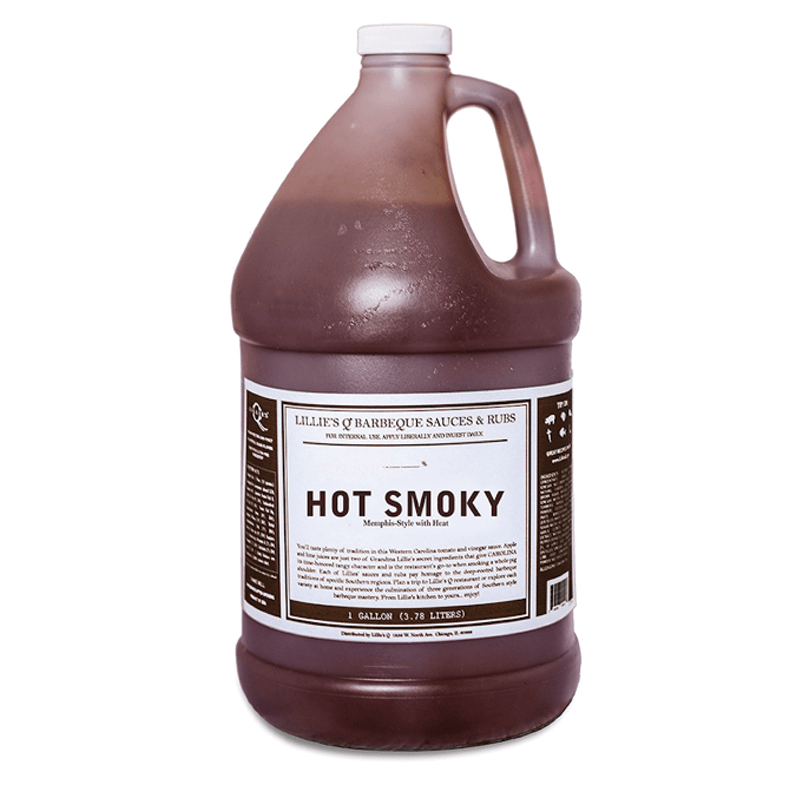 Hot Smoky BBQ Sauce 3.8lt Lillie's Q (Pre Order)