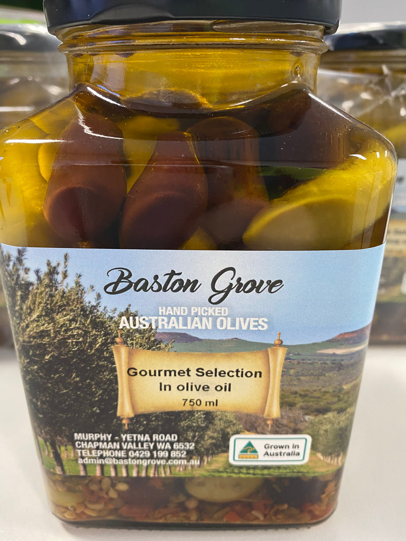 Gourmet Selection Olives in Oil 750ml Baston Grove