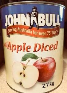 Apple Diced in Syrup A9 Tin