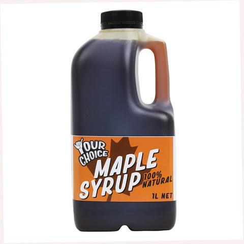 Your Choice 100% Natural Maple Syrup 1lt