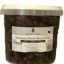 Marinated Pitted Mixed Olives 5kg Penfields (Garlic, Herb and Spices)