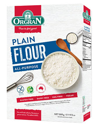 All Purpose Gluten Free Plain Flour 500g Box Orgran