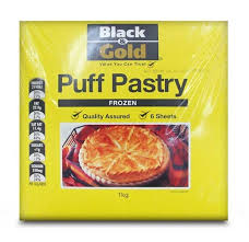 Pastry Puff Sheets 1kg Packet  Black &Gold