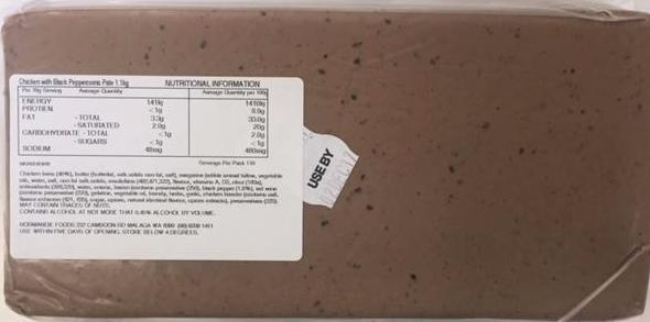 Black Peppercorn Pate  Approx 1.15kg (2 Days Pre Order)