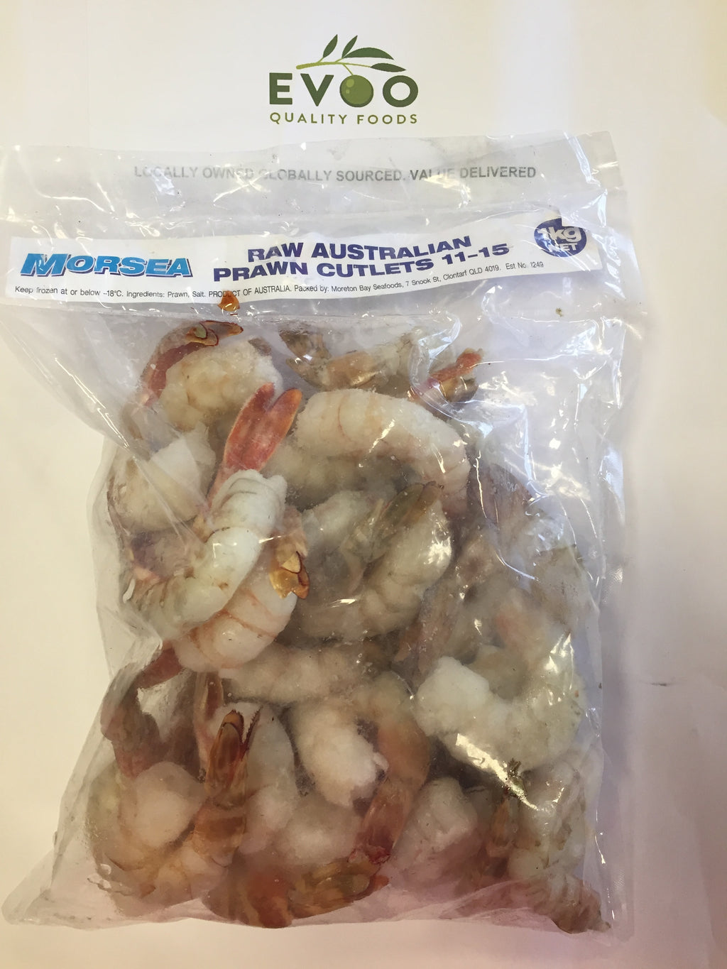 Tiger Prawn Cutlets Raw Australian 11-15 IQF 1kg Morsea