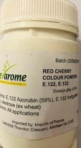 Red Cherry Powder 100g Sevarome (Water Soluble - Colouring) Pre Order
