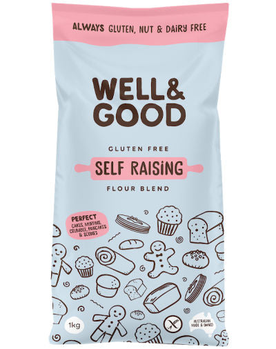 Self Raising Gluten Free Flour 1kg Well & Good