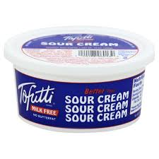 Sour Cream 340g Tub (Milk Free) Tofutti