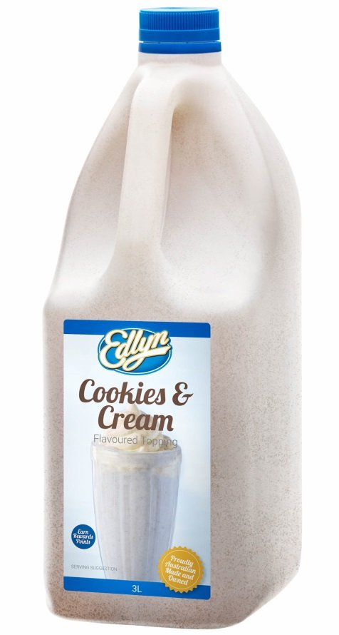Cookies & Cream Topping 3lt Edlyn (Pre Order 3 Days)