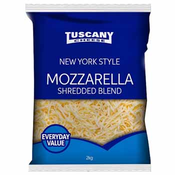 Tuscany Shredded Mozzarella 2kg