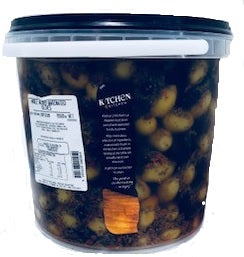 Mixed Whole Marinated Olives (4kg NDW) Locally Produced. 5kg Tub Kitchen 2 Kitchen