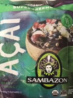 Acai Sambazan Supergreen Puree 15 x (4 x 100g) Carton (Limited Stock)