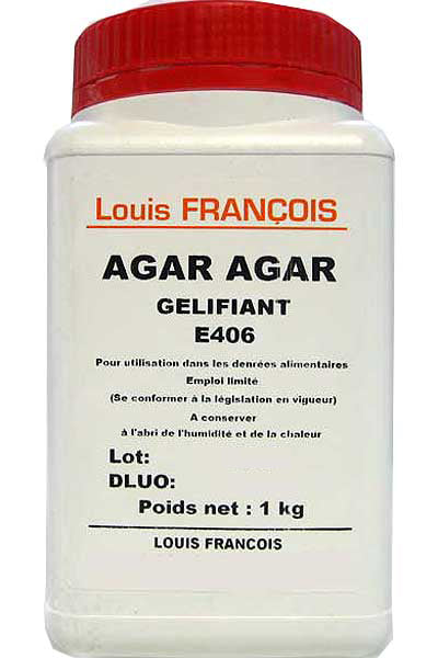 Agar Agar Powder 1kg Tub Louis Francois