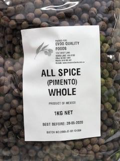 Allspice Whole 1kg Bag (Pimento) EVOO QF