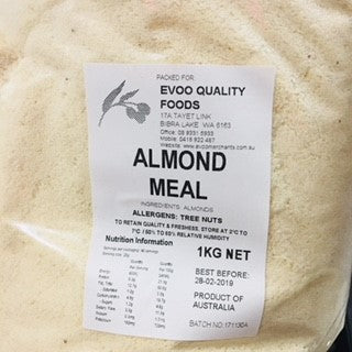 Almond Meal 1kg Bag EVOO QF
