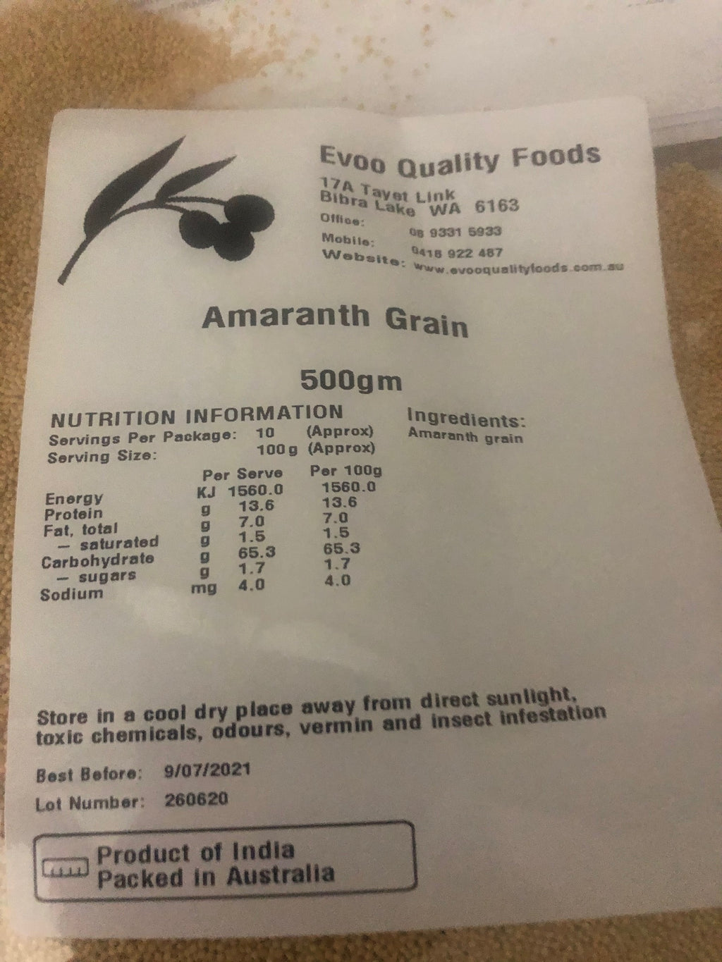 Amaranth Grain 500g